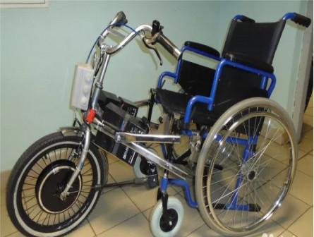 Велоприставка Мечта для инвалидной коляски, 1000Вт