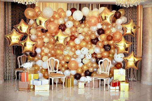 Стенки из воздушных шаров