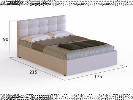 """Кровать с матрасом """"Белая роза"""""""