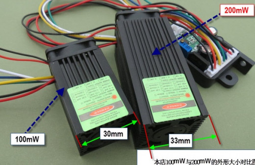 G150, G 300 мвт Модуль лазерный зеленый