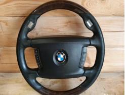 BMW 750 e65 руль дерево