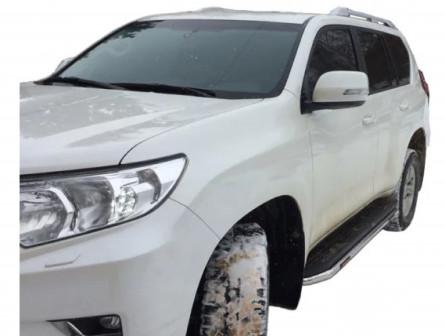 Рейлинги продольные (серебро) Тойота Прадо 150