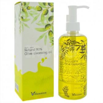 Гидрофильное масло для очищения кожи Elizavecca Natural 90 Olive Cleansing Oil для очищения кожи