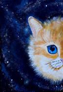 Картина акрилом Кот из серии Тотем