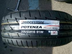 205/55 R16 BRIDGESTONE Potenza RE003 Adrenalin 91W