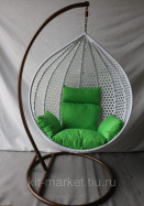 Подвесное кресло белое IR 000901