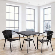 Комплект плетеной мебели T282BNSY137C W53 Brown 2Pcs