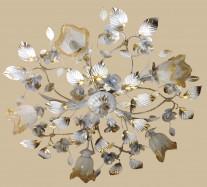 Белая с золотом люстра в стиле флористика 5555 W