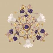 Люстра вересковая с сиреневыми розами 045453 PV