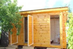 Хозблок 2х5 метра с душем и туалетом за 5 дней