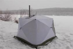 Палатка Куб 2,2 3-сл+дымоход Уралзонт