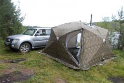 Палатка Куб 3,5 5-сл c дымох и полом Уралзонт