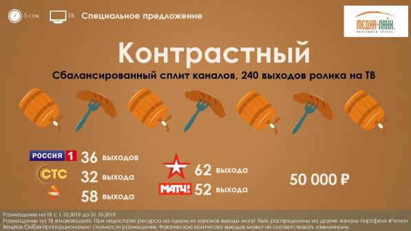 Бонусные предложения на центральных телеканалах