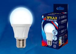 Лампа светодиодная Яркая 8вт 6500к Е27 дневной свет матовая Uniel