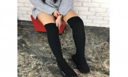 Ботфорты стрейч кеды носки Арт. 150-46