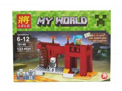 Конструктор Мой Мир «Красная крепость» 123 дет 79149