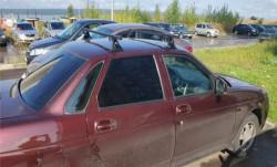Багажник Евро-Деталь на крышу для Приоры