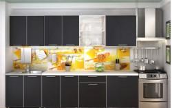 Кухня Радуга Черная 2,4 м