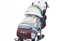 Санки-коляска детские Ника Детям 7-3 + выдвижные К
