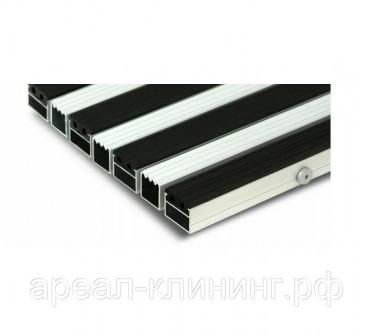 Алюминиевая решетка Н=23мм резина-скребок