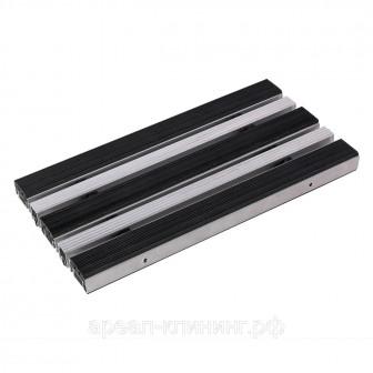 Алюминиевая решетка Н=20мм, резина-скребок