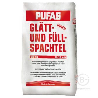 Шпатлевка гипсовая Glatt und full-spachtel Pufas 25 кг