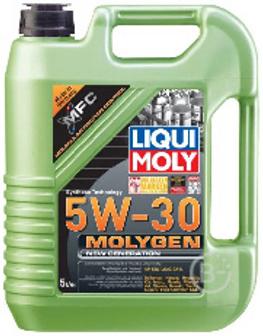 Масло моторное Liqui Moly Molygen NG 5W30 API SN & ILSAC GF5. молибдено-вольфрамовая присадка, 5 л по цене 4л
