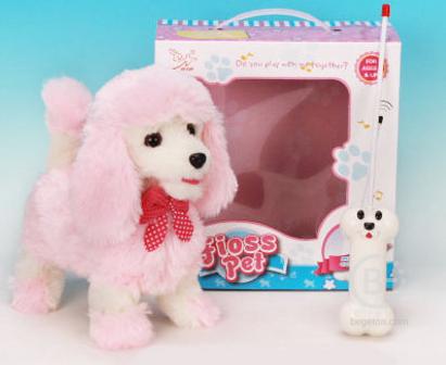 """Радиоуправляемая плюшевая собака """"Пудель"""" - 9691B4"""