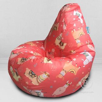 MyPuff кресло мешок Груша Фэшн лама, размер Комфорт, принтованный оксфорд: bbb_604