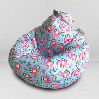 Кресло-мешок детский MyPuff Kids Совы, принтованный оксфорд: m_590