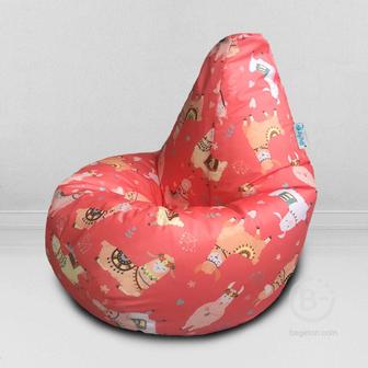 MyPuff кресло мешок Груша Фешн лама, размер Компакт, принтованный оксфорд: bm_604