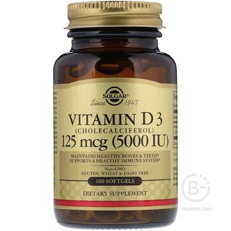 Витамин D3 (холекальциферол) от Solgar. США