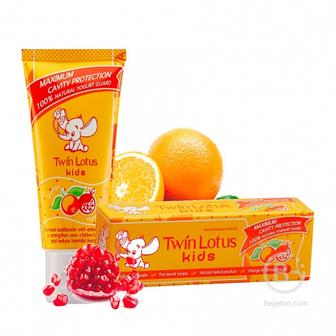 Twin Lotus Kids детская зубная паста Апельсин-Гранат