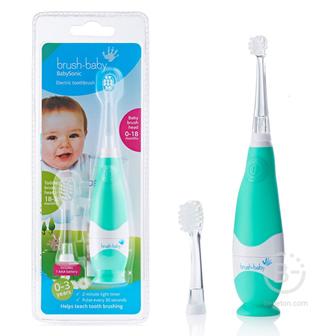 Brush-Baby BabySonic звуковая зубная щетка, 0-3 года, бирюзовая
