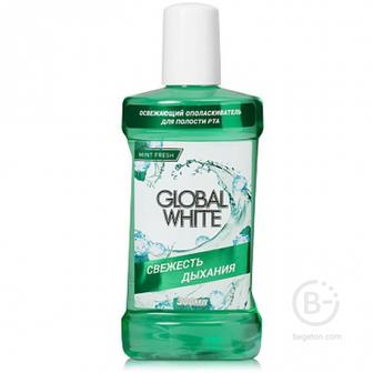 Global White освежающий ополаскиватель для полости рта, 300 мл