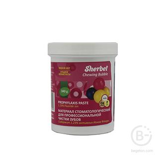 Sherbet Prophylaxis Paste, вкус жевательная резинка, зернистость средняя, 340 г
