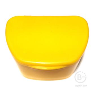 Plastic Box бокс пластиковый, 95*74*39 мм, цвет: желтый