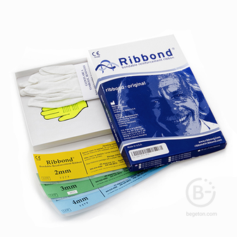 Ribbond Original 2, 3, 4 мм набор для шинирования 3 ленты по 22 см, без ножниц