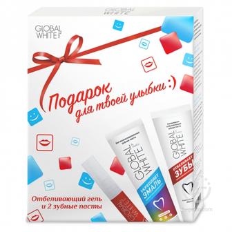 Global White набор для отбеливания, карандаш 5 мл + 2 зубные пасты