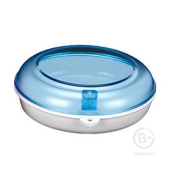 Plastic Box Circle бокс для хранения ортодонтических конструкций, цвет: аквамарин