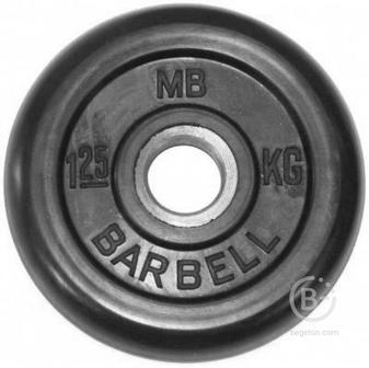 Диски 31 мм Олимпийский диск 1,25 кг 31мм Barbell MB-PltB31-1,25