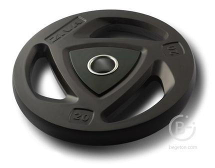 Диски 51 мм Диск олимпийский 1,25 кг ZIVA серии ZVO уретановое покрытие черный ZVO-DCPU-1401
