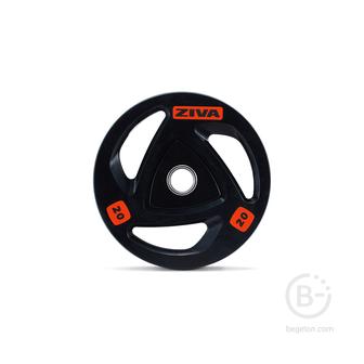 Диски 51 мм Диск олимпийский 2,5 кг ZIVA серии ZVO резиновое покрытие ZVO-DCRB-2302