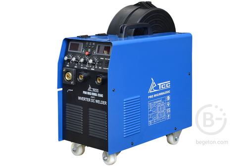 Полуавтоматические сварочные аппараты Сварочный аппарат инверторного типа ТСС PRO MIG/MMA-250C