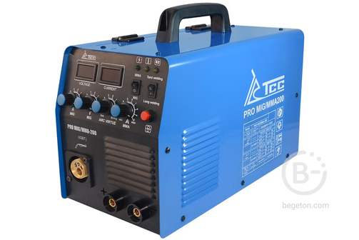 Полуавтоматические сварочные аппараты Сварочный аппарат инверторного типа ТСС PRO MIG/MMA-200