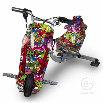 Электроскутер Дрифт Карт Drift-Trike MINIPRO Mi T01 - Джунгли/Фиолетовый граффити Mi T01
