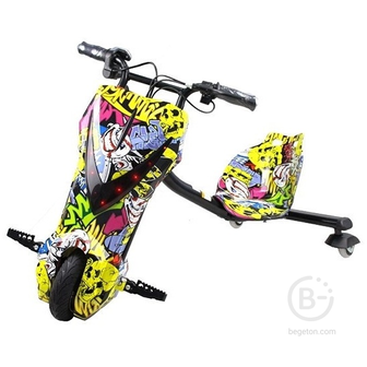 Электроскутер Дрифт Карт Drift-Trike MINIPRO Mi T01 - Хип-хоп/Желтый граффити Mi T01
