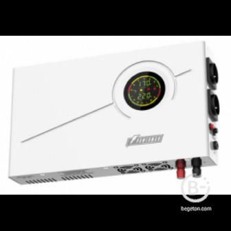 ИБП POWERMAN Smart 500 INV, линейно-интерактивный,  500ВА/300Вт, 140-275В,  2 евророзетки, внешняя батарея 12В от 18Ач до 200Ач (не входит в комплект поставки), ток заряда 10А, ЖК-дисплей, навесной, 410мм х 268мм х 70мм,  7.74 кг. - UPS POWERMAN Smart 500