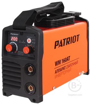 Сварочные инверторы Аппарат сварочный инверторный PATRIOT WM 160AT MMA