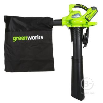 Аккумуляторные воздуходувки Пылесос-воздуходувка GreenWorks GD40BV